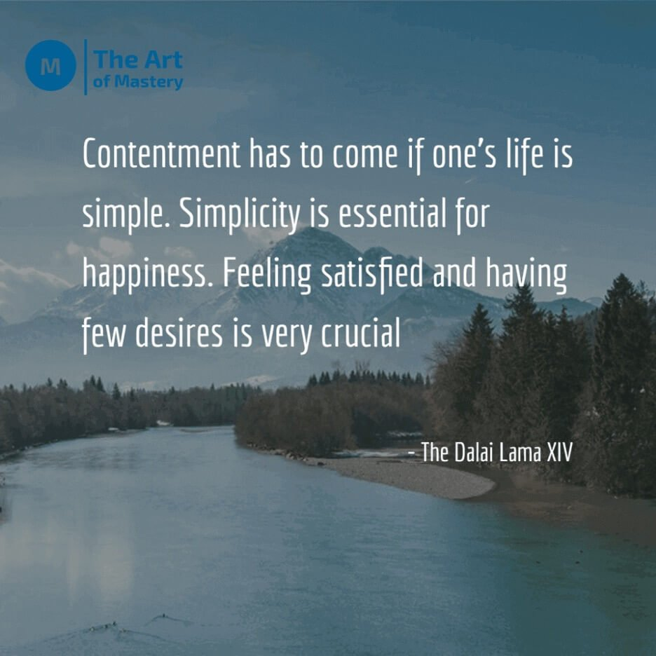 Dalai Lama quote on minimalism