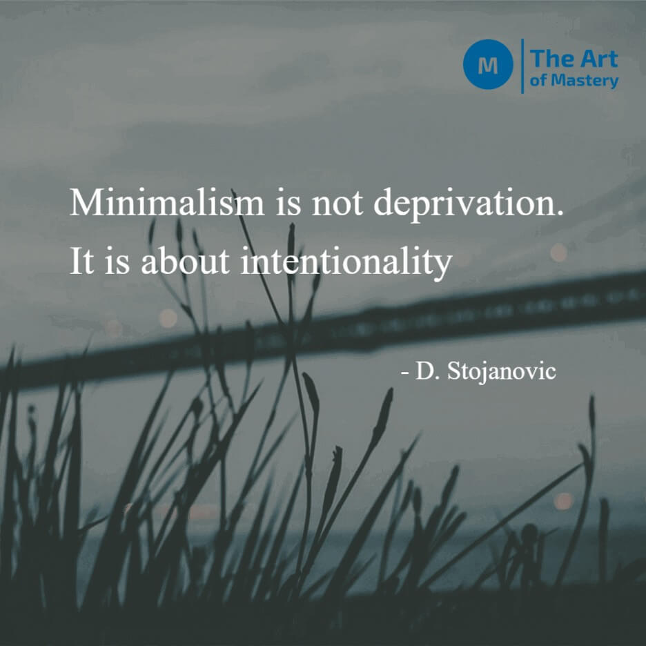 Minimalism quote nature background