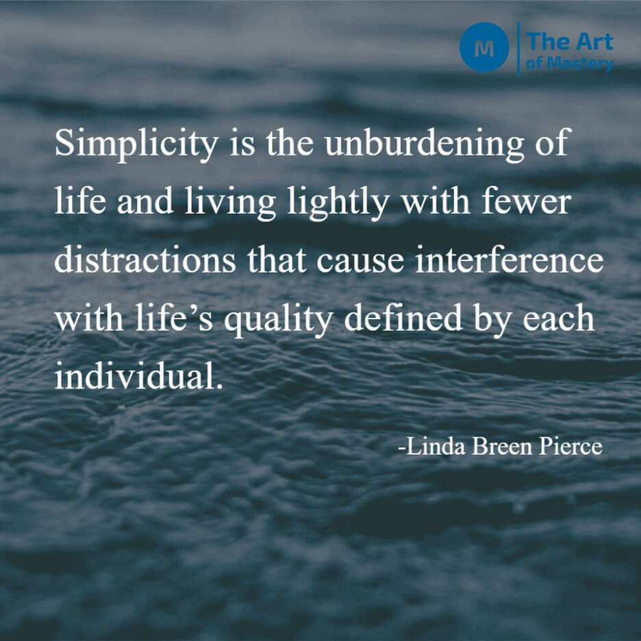 simplicity quote water image background