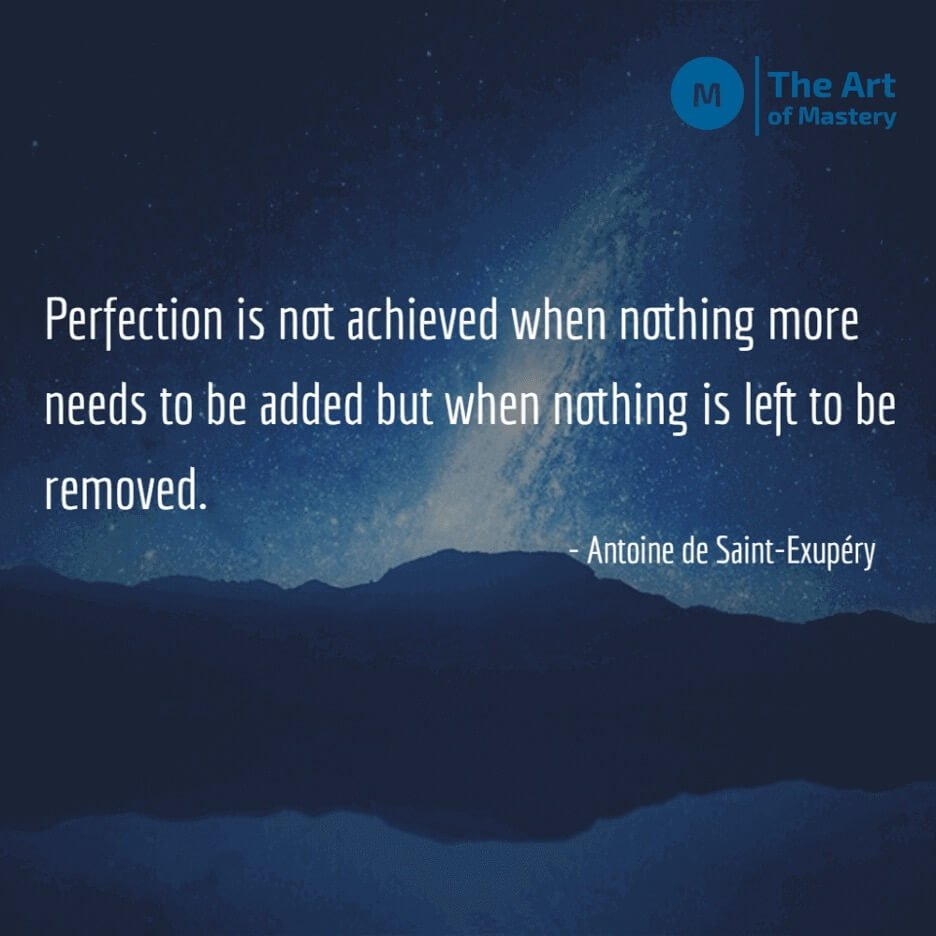 quote on perfection and minimalism
