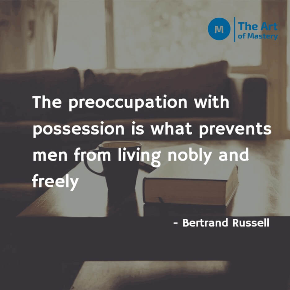 quote on minimalism and possession