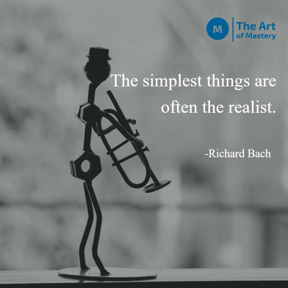 quote on simplicity by richard bach