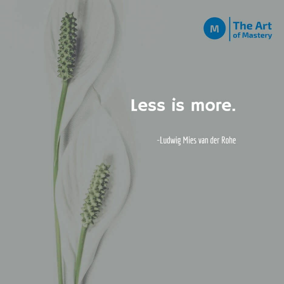 less is more quote by ludwig