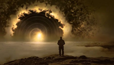 is law of attraction real man looking into the universe