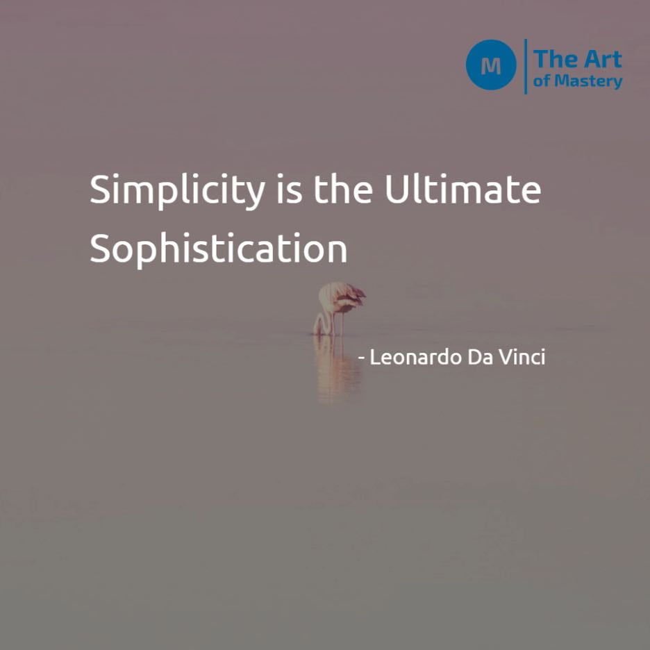 Quote on simplicity by leonardo da vinci