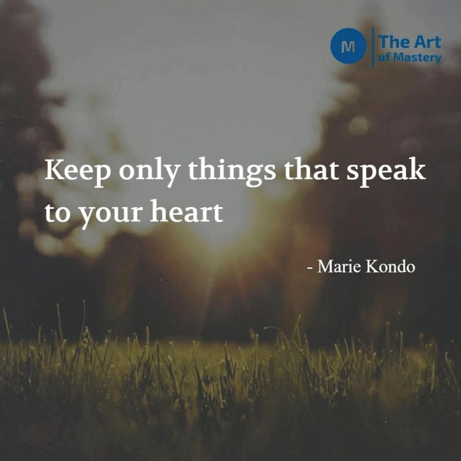 minimalism quote by marie kondo