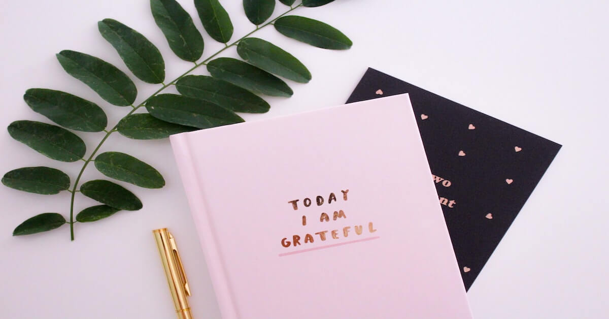 pink minimalistic journal with golden pen