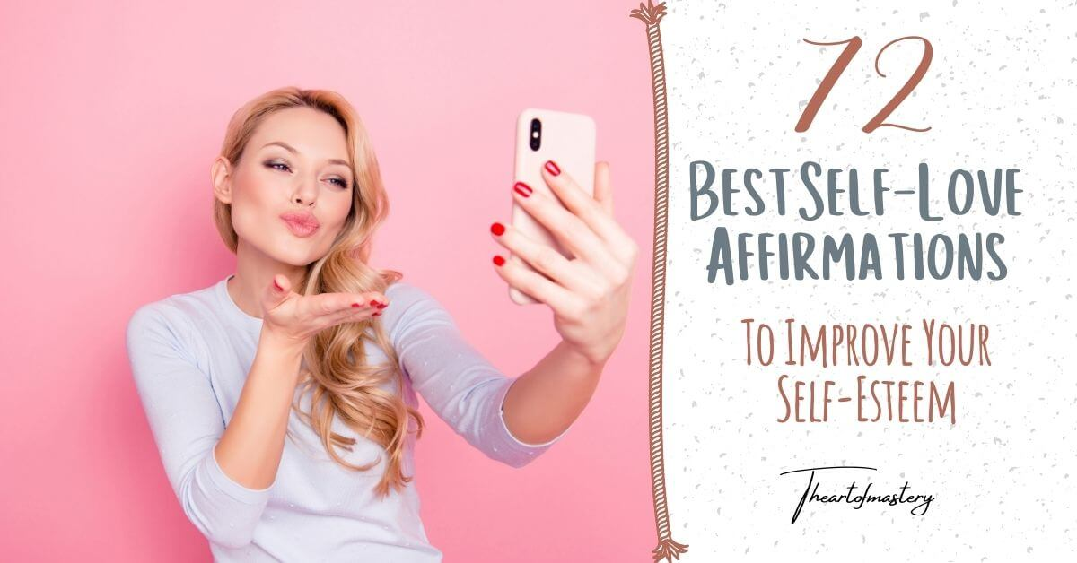 Blonde Woman Taking a Selfie on a Pink Background