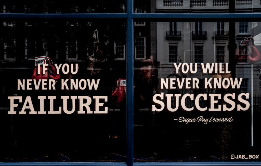 If you never know failure, you will never know success - How to deal with failure
